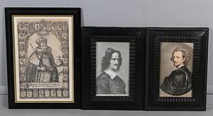 ÄLDRE GRAVYRER, 3 st, porträtt.