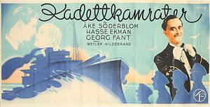 AFFISCH, från filmen Kadettkamrater, Ljunglöfs Stockholm.