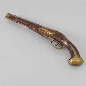 Slutpris för PISTOL, flintlås, 1700-tal.