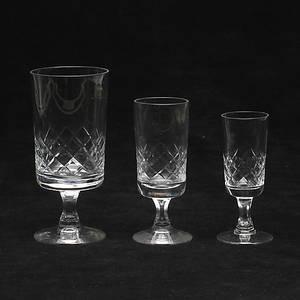 VIN och STARKVINGLAS, 18 delar, Zita, Johansfors. Glas