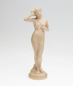 FIGURIN, terrakotta, Peter Ibsens Enke, Danmark, 1900-tal.