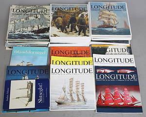 BÖCKER, 342, segling bl.a Longitud, tidskrift från de sju haven.