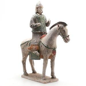 GRAVFIGUR, Terracotta, sen Ming dynasti, 1368-1644, Kina.
