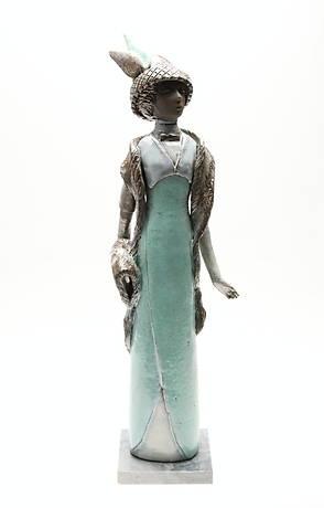 FIGURIN, keramik, Elsi och Margareta Bourelius, 1900-talets senare hälft.