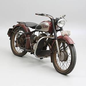 MOTORCYKEL, Svecia 200, 1952 Motornr 238A43482D, Ramnummer B 25320.
