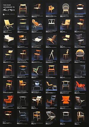 AFFISCH, offsettryck, Wegner, Limiterad, För utställningen The chair according to Hans J. Wegner.