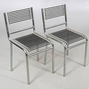 STOLAR, ett par, Sandows Chair, Rene Herbst. 1970-tal.