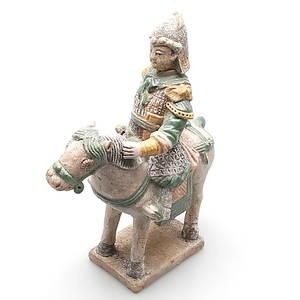 GRAVFIGUR i terracotta, sen Ming dynasti, 1368-1644, Kina.