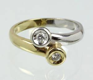 BRILLANT RING, Gold 585.