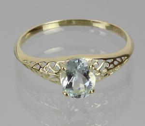 AQUAMARIN RING, Gold 585.