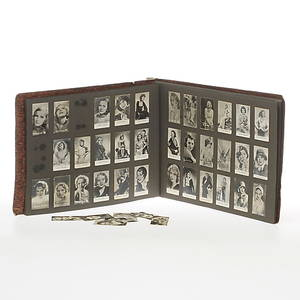 FILMSTJÄRNEBILDER, från Marabou-filmserie, Cloetta Örncacao med flera, bland annat Greta Garbo, Gösta Ekman, Marlene Dietrich samt Anita Page.