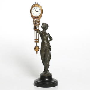 BORDSUR, bronz, Junghans, Art Deco, 1800-talets slut.
