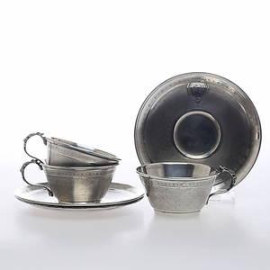 KOPP MED FAT, 3 set, silver, Ladoucette  Gavard, Frankrike, 1800-tal.