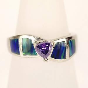 925 Silver Stamped Rhodiniert Ring, Größe 57, 4.07 Gramm.