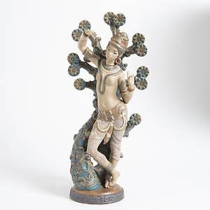FIGURIN, orientalisk kvinna, Lladro.