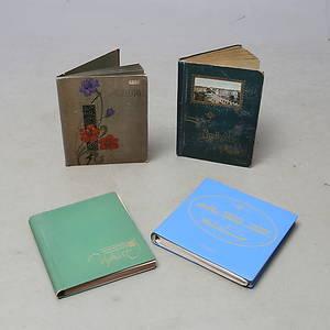 BREVKORT samt VYKORT, ca 340 st, i 4 album, 1900-tal.