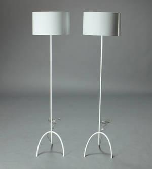 Par Findus standerlamper, hvidlakeret aluminium