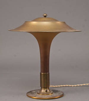 Fogh Mørup Fakkellampenbordlampe Art Deco form, 1930erne