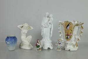 VASER, 2 st, samt figuriner, 4 st, bl.a. Bing  Gröndahl