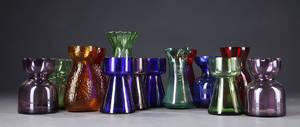 Samling hyacintglasløgglas 1900 - tallet. 14