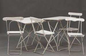 Haveborde og stole, 1900-tallet. Fra Nordisk Films rekvisitlager 6