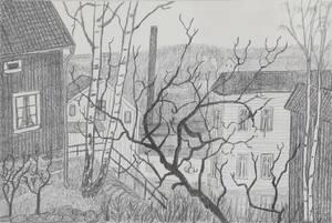 Litografi, Mona Johansson, 1971