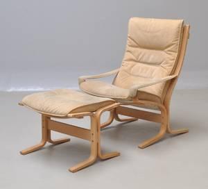 Ingmar Relling 1920-2002. Siesta hvilestol med tilhørende fodskammel.