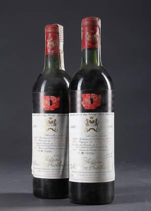 2 fl. Chateau Mouton Rothschild 1972 2