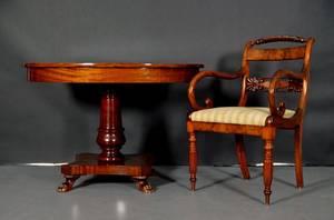 Pelarbord samt karmstol, 1800-talets andra hälft 2