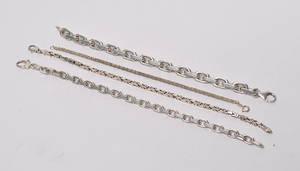 4 armlænker af sterling sølv