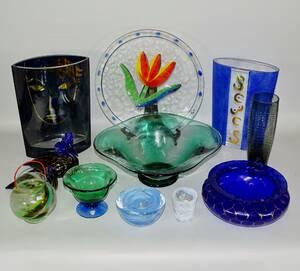 Parti glasföremål, bl a Kosta  Orrefors, 12 delar