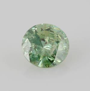 1 Loose Green-Blue brilliant-cut Diamond 0.91ct