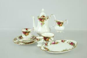 KAFFESERVIS, 30 delar, Old country roses, Royal Albert