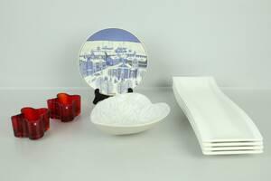 PARTI med ljusstakar, ett par, Iittala, skål, uppläggningsfat, 4 st samt jultallrik, Arabia