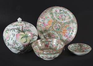 Porslin 4 delar, Kina, bl.a. 1800-tal