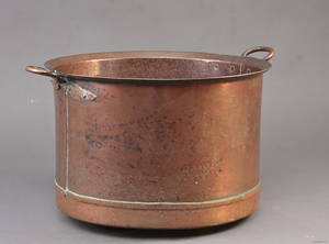Gruekedel af kobber