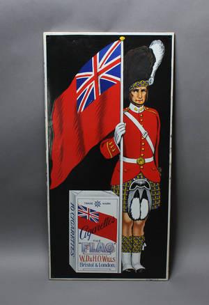 The Flag Cigarettes. Emaljeskilt