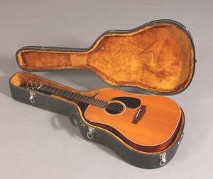 K. Yairi. Klassisk håndbygget guitar med transportkasse