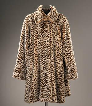Michel Alexis fakefur leopard pels Str. one size.L.