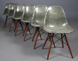 Charles Eames Seks army skalstole model DSW 6