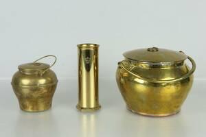 BULKRUKOR, 2 st, samt VAS, bl.a. Skultuna 1840-1860