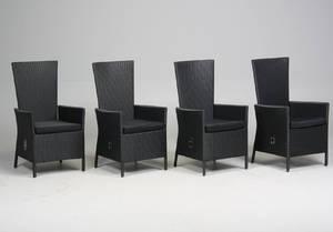 Fire havestole med regulerbar ryg 4