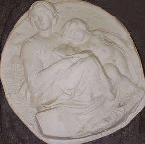 Relief, motiv efter Michelangelo, gips, tidigt 1900-tal