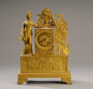 Empire kaminur af forgyldt bronze, ca. 1820