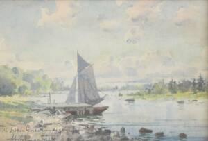 Akvarell, Hjalmar Falk