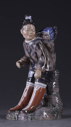 Dahl-Jensen. Figur, porcelæn 1227 II sort.
