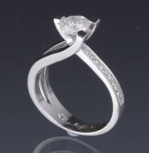 Diamantring, ca. 0.82 ct Denne auktion er annulleret - se nu vare 1911353