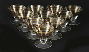 Glas på fot 10st, 195060-tal