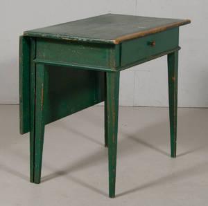 Bord med låda samt klaff gustaviansk stil 1800-tal