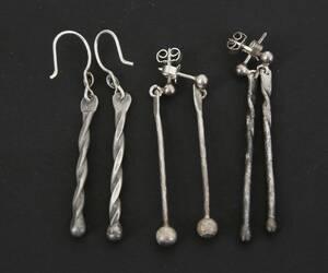 Örhängen 3 par, silver
